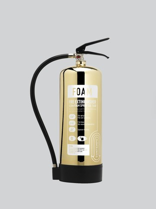 Midland Fire - First Class Range - 6 Litre Afff (Foam Spray) with a golden shine finish