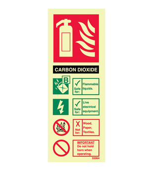 Midland Fire - Fire Extinguisher Identity Sign (Carbon Dioxide)