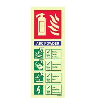Midland Fire - Fire Extinguisher Identity Sign (Dry Powder)