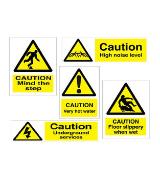 Midland Fire - Hazard Warning Sign (Various)