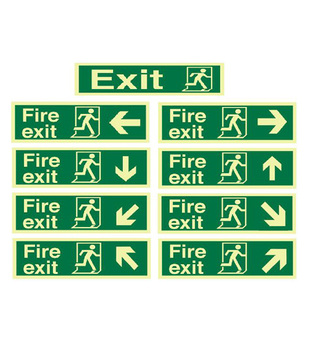 Midland Fire - Fire Exit Sign (Directional Arrows)