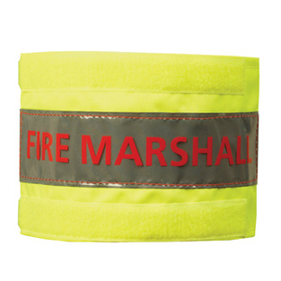 midland fire - luminescent yellow fire marshal arm band